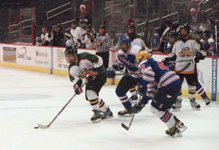 The Mason ice hockey team hopes to improve upon last years fourth place finish. Photo Courtesy of Ice Hockey Team.