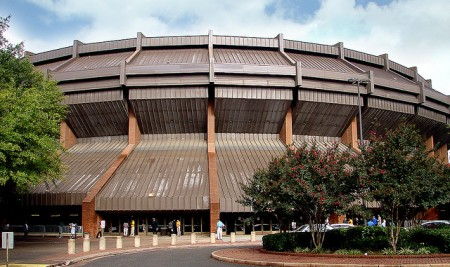 The Richmond Coliseum. Photo courtesy of voobie.