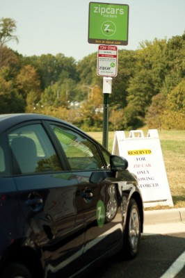 Zipcar, a car rental service, is now available to George Mason University students. Photo By Nicole Francisco.