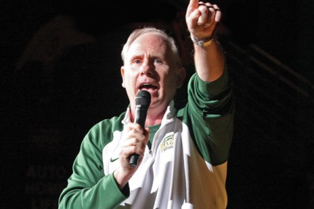 Men's basketball coach Jim Larranaga has resigned to accept a job as head coach at the University of Miami. File Photo
