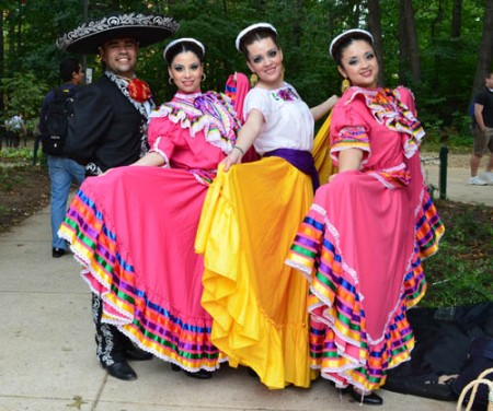 The kickoff featured aspects of HIspanic culture, including tradional garments.