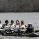 Women's rowing found the right combinations for their boats at the Occoquan Sprints. They were able to have all their boats finish competitively. (MAURICE C. JONES/BROADSIDE)