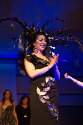 The Patriot Activities Council hosted a fashion show with students at the Paul Mitchell School at Tyson's Corner to showcase beauty throughout the ages. (JENNY KRASHIN/BROADSIDE)